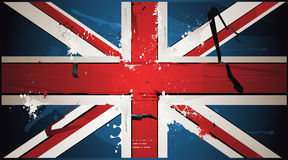The British flag is drawn with paint Stock Image