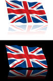 British Flag Flowing. A great image for icons, buttons, backgrounds, and banners royalty free illustration