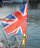 British flag fluttering in the wind Stock Photos