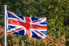 the British Flag Flying in Bath England stock photo