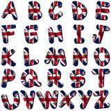 British flag font Royalty Free Stock Images