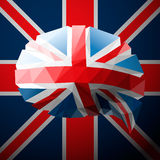 British flag in the form of a speech bubble Royalty Free Stock Image