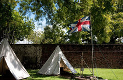 British flag on the fort Stock Photos
