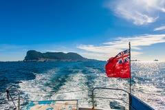 British Flag on Gibraltar Boat Stock Photos