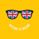 British flag in glasses Royalty Free Stock Image