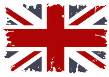 British flag grunge. Large Classic colored Royalty Free Stock Photo