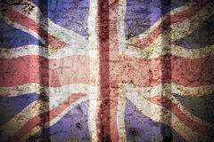 British flag. British flag on a grunge corrugated background stock images