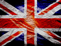 British flag grunge on paper. Paper texture or background crumpled england UK Royalty Free Stock Photo