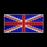 British Flag jewelry ornament design. Made from seed beads isolated on black background Royalty Free Stock Photography