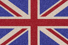 British flag made ��of colored decorative sand. Stock Images