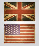 British flag old Stock Photos