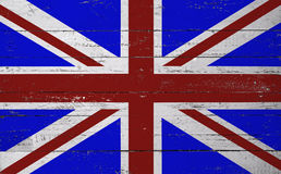 British flag painted on a wooden board Stock Photos