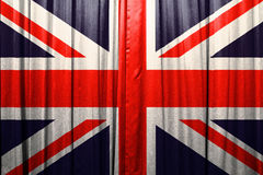 British flag pattern on the curtain. Royalty Free Stock Photos