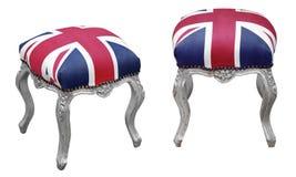 British flag pouf Royalty Free Stock Image