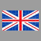 British flag from puzzles on a gray royalty free illustration