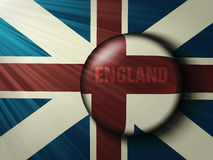 British flag with the rays. Vector, world, button Royalty Free Stock Photos