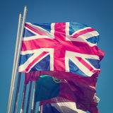British flag. The British flag with retro effect applied Royalty Free Stock Images