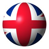 British flag sphere Royalty Free Stock Photography