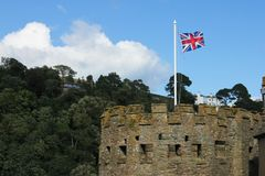 British flag in the tower Stock Photo
