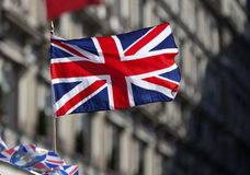 British flag on the wind. Picture of the British flag on the wind Royalty Free Stock Photography