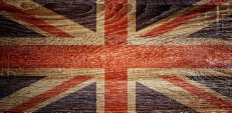 British flag on wood texture Royalty Free Stock Photos