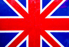 British flag on the wooden board Royalty Free Stock Photography