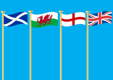 British Flags Stock Photos