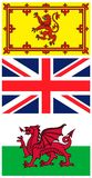 British flags Royalty Free Stock Photography