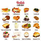 British Food Cuisine. A vector illustration of British Food Cuisine Royalty Free Stock Photos