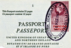 British Foreign Service Fee Stamp Stock Photography