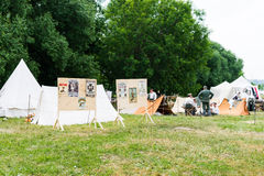 British and German army military camps Royalty Free Stock Images