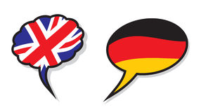 British and German language clouds Royalty Free Stock Photography