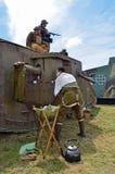 British and German WW1 tanks. Stock Photo