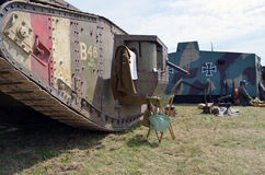 British and German WW1 tanks. Royalty Free Stock Photos