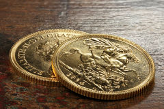 British gold coins Stock Photos