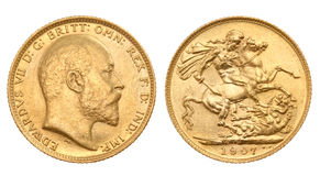 British gold sovereign Stock Photos