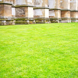 British     in  grass london england old  construction and relig Royalty Free Stock Photos