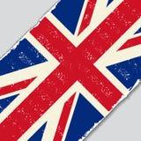British grunge flag. Vector illustration. British grunge flag diagonal background. Vector illustration Stock Photos