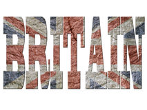 British grunge letters Royalty Free Stock Photo
