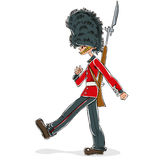 British guard cartoon. Royalty Free Stock Image