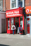 British heart foundation charity store. Stock Photography