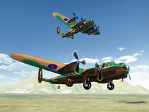 British heavy bombers of World War II Royalty Free Stock Photo