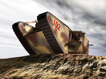 British Heavy Tank of World War I. Computer generated 3D illustration with a British Heavy Tank of World War I Royalty Free Stock Image