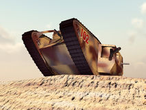 British Heavy Tank of World War I. Computer generated 3D illustration with a British Heavy Tank of World War I Royalty Free Stock Photos