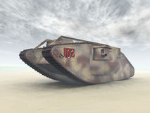 British Heavy Tank of World War I. Computer generated 3D illustration with a British Heavy Tank of World War I Stock Photos