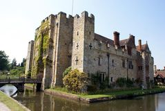 British historic moated castle in the south of England Stock Photography