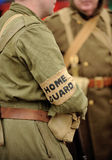 British Home Guard soldier. Soldier in uniform of British Home Guard from World War II royalty free stock images