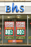British Home Stores closing down Royalty Free Stock Photo