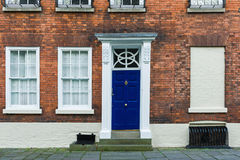 British house entrance door Stock Photos