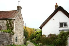 British house style scenic. British house made from stone atmosphere represent the british urban scenic Stock Photography
